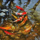Art Modern Goldfish Scenery Oil Painting Home Deco Wall Print On Canvas Unframed