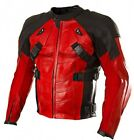 QMUK Deadpool Motorbike PU Leather Jacket with Full Armor Protection