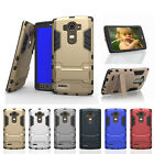 Luxury Hybrid Shockproof Defender Armor w/ Kickstand Hard Case Cover For LG G4