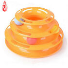 Pet Cat Toy Interactive Training Pet Toy Amusement Plate Trilaminar Ball Chewing