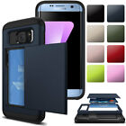 Credit Card Holder Shockproof Hard Wallet Case Cover For Samsung Galaxy S7 /Edge