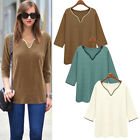 New Fashion Women Summer Loose Top Shirt 3/4 Sleeve Blouse Casual Tops T-Shirt