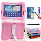 Shockproof Stand Soft Silicone Cover Case +Screen Film For Samsung Galaxy Tablet