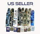 Official Licensed US Military Lanyard Keychain w/ ID Holder- Army, Navy, Marine