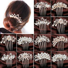 WOW Crystal Rhinestone Flower Wedding Bridal Hair Comb Hairpin Clip Jewelry