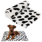Pet Blanket Pad For Dogs Puppy Kitten Cat Bed Dots Print Soft Warm Flannel Mat