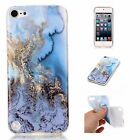 For iPod Touch 5th - 6th Gen - Hard Rubber Gummy Case Cover Marble Stone Pattern