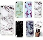 For iPod Touch 5th / 6th Gen - Hard Rubber Gummy Case Cover Marble Stone Pattern