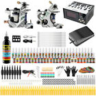 Complete Tattoo Kit 2 Tattoo Machine Gun Ink Tattoo Power Supply Needles Grips