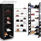 10 Tier Adjustable Shoe Rack Storage Holder Shoes Organiser Shelf Model Choice