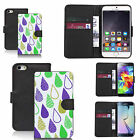 faux leather wallet case for many Mobile phones - coloured rain