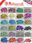 40x Faceted Acrylic Sew On, Stitch On, DIAMANTE Crystal GEMS - Choose colour
