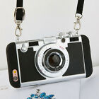 Soft Silicone Camera Phone Case Novel Style Long Strap Rope Case For iPhone6 7 8