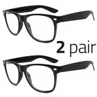 Внешний вид - 2 PAIR Mens Womens Clear Lens Nerd Retro  Unisex Glasses Fashion Eyewear