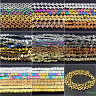 """multi color assorted patterns hematite gemstone spacer beads stone strand 16"""""""