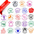 Teacher stamp self inking school homework office personalized name gift 28mm