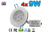 4x 9W LED Down light Ceiling Recessed Lamp Spotlight in Warm / Cool White home