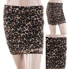 Leopard Print Full Lace Thigh Length Mini Skirt with Stretchable Waistband S M L
