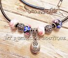 BE YOURSELF Necklace Black Leather Charm Pink White Ladies Teens Girl Christmas