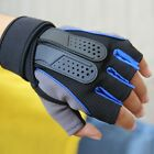 Sports Exercise Training Fitness Weight Lifting Gym Gloves Workout Wrist Blue