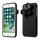 PICKOGEN 4 in1 External Wide Telephoto Camera Lens Case for i Phone 7 4.7 HE-099