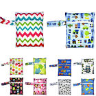 Baby Infant Waterproof Reusable Zip Wet Dry Bag Cloth Diaper Nappy Pouch Pocket