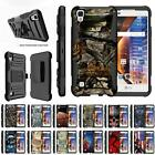 For LG Tribute HD / LG X Style Case Rugged Holster Belt Clip Kickstand Cover