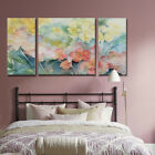 3pcs HD Print Flower Group Abstract Home Wall Decor Oil Painting On Art Canvas