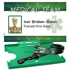 First Aid  ID Badge, Safety Lanyard Photo or No Photo. Personalised or Generic