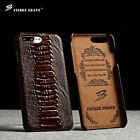 100% Luxury Genuine Leather Back Cover Case for Apple iPhone 6 6s 7 Plus