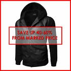 FashionOutfit Men's Faux Leather Sherpa Varsity College Baseball Hooded Jacket