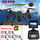 JXD 510G WIFI FPV 6Axis 4CH RC Quadcopter RTF 2MP HD Camera Drone+5 Free Battery