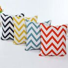 Colorful Wavy Stripes Cushion Cover Linen Cotto Throw Pillow Case Home Decor New