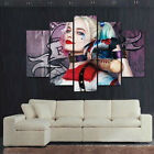 5pcs Harley Quinn Livingroom Wall Decor Landscape Oil Canvas Paintings Craft