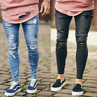 Mens Sik Silk Super Skinny Stretchable Denim Designer Distress Ripped Jeans