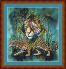 JAGUAR DIAMOND - PDF/PRINTED X STITCH CHART 14/18 COUNT ARTWORK © S GARDNER