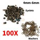 Внешний вид - 100pcs Metal Eyelets Grommets + Washers Set Leather Craft DIY Sewing Accessories