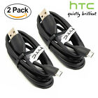 2X OEM Original Micro USB Data Sync Charger Cable For HTC One X S V M7 M8 M9 E8