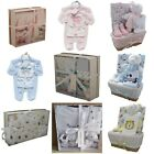 New Baby Boy Blue Girl Pink Unisex Gift Box & Basket Hamper Sets Shower Present