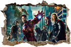 AVENGERS 3D SMASHED HOLE IN WALL ART DECAL