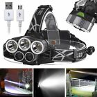 50000LM 3x XM-L T6 +2 x XPE LED Rechargeable 18650 USB Headlamp Head Light Torch