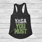 Star Wars Yoga You Must Tank Top for Fitness Gym Workout Crossfit $16.95 USD