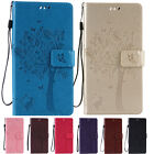 Premium PU Flip Leather Stand Wallet Phone Skin Case With Strap Cover For Huawei