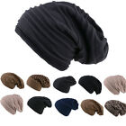 2017 Winter Warm Mens Women Beret Braided Baggy Knit Crochet Beanie Hat Ski Cap