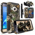 Hybrid Rugged Clip Holster Case Cover For Samsung Galaxy Express 3/Luna/J1 2016