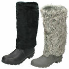 WHOLESALE Ladies Fur Upper Wellington Boots / Sizes 3x8 / 12 Pairs / X1152