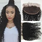 "7A Brazilian Virgin human Hair 13""x4"" Ear to Ear Lace frontal Closure deep curly"