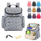 Water Resistant Baby Diaper Bag Backpack Changing Bag Nappy Bag Changing Pad