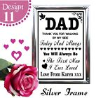 PERSONALISED WEDDING SIGNS - DAD THANK YOU FOR WALKING BY MY SIDE SIGN GIFT