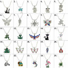 """Animal Pendant Necklace 17"""" Snake Chain Gift Box Included image"""